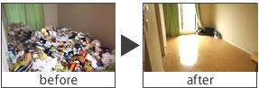 汚部屋事例